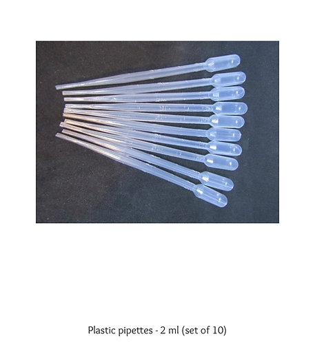 Plastic pipettes (2 ml), (set of 10)
