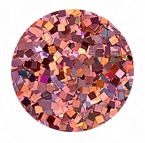 Holographic Red Glitter Squares Colour Passion
