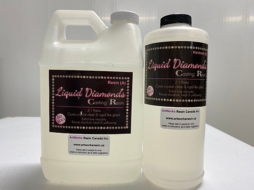 Liquid Diamonds Casting Resin 96 oz (3/4 gal)/kit (2.84 litres), ETA update soon