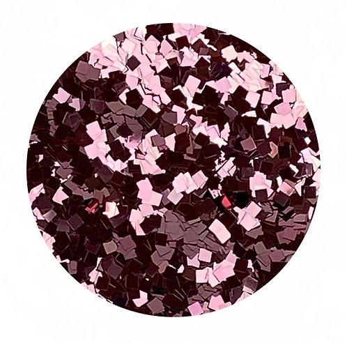 Dusty Rose Glitter Squares Colour Passion
