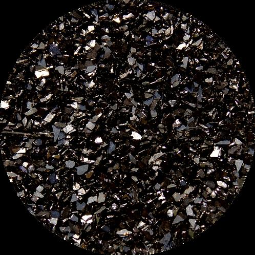 Black Obsidian Glitter Glass Shards, 2oz (56gm)