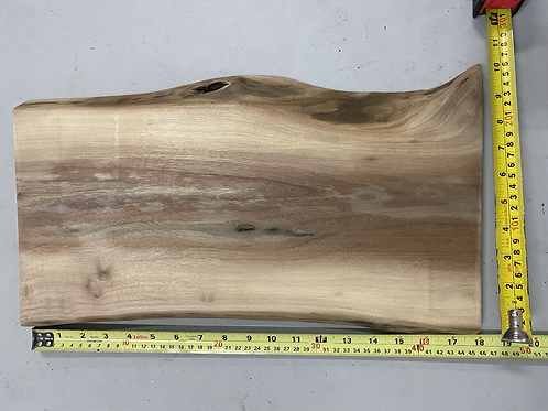 Live edge black walnut