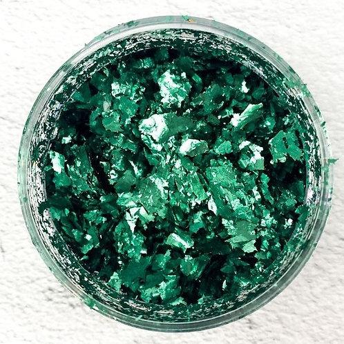 Emerald Metallic Foil Flakes, Colour Passion