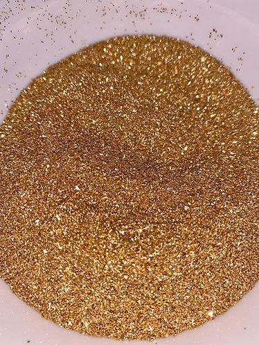 Gold German Glass Glitter, 90 Grit (Fine), 1oz