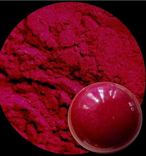 Warm Magenta Pearlescent Pigment Powder 50ml Le Rez