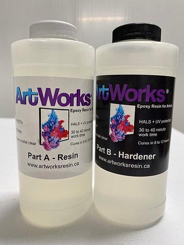 ArtWorks Resin 32 oz (946 ml) kit, with HALS added