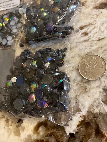 Acrylic Gems, black, small bag