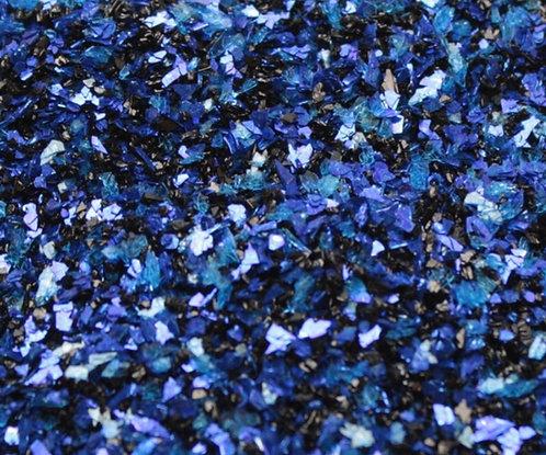 Cobalt Dark Fusion 70grit Glitter Glass, 1oz jar