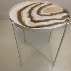 Resin Tray Table White