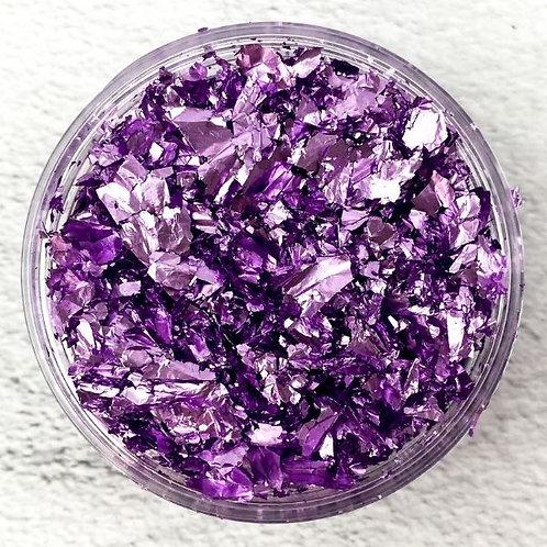 Purple Metallic Foil Flakes, Colour Passion