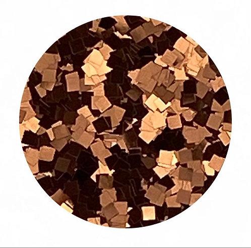 Copper Glitter Squares Colour Passion