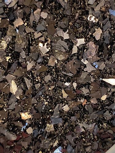 Black Mixed Blend German Glass Glitter, 1oz