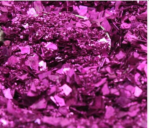 Fuchsia Fusion 40/80 grit blend Glitter Glass, 1oz jar