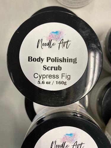 Body Polishing Scrub, Cypress Fig, Noodle Art, 6.6oz/160g