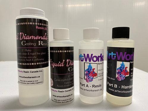 Liquid Diamonds  & ArtWorks Resin Sample Sizes Kit