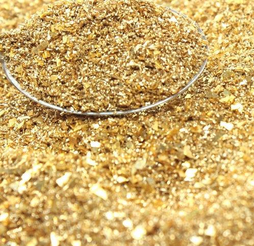 Gold Fusion 70/90 grit blend Glitter Glass, 1oz jar