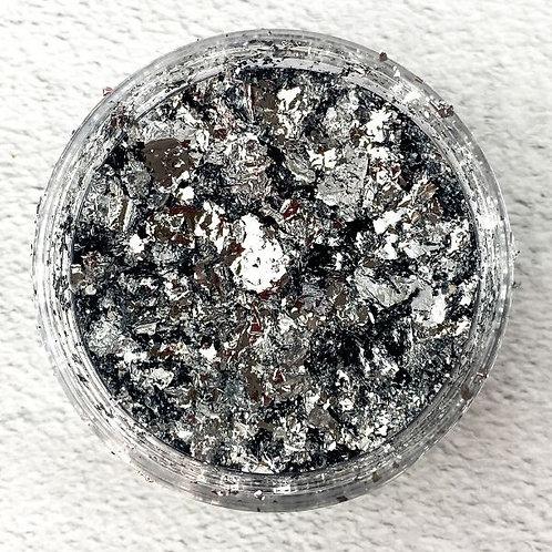 Silver Metallic Foil Flakes, Colour Passion