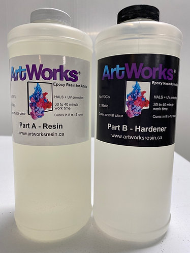 ArtWorks Resin 64oz kit (1.9 Liters combined/Half Gallon kit) HALS added