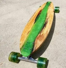 iCoat Products resin skateboard green