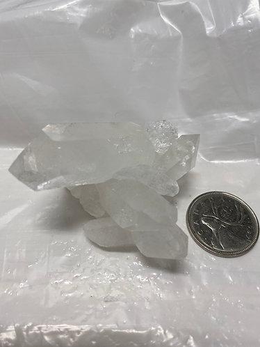 Genuine Crystal Quartz Cluster