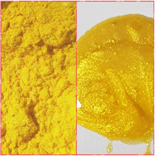 Sunflower Yellow Pearlescent Pigment Powder 50ml Le Rez
