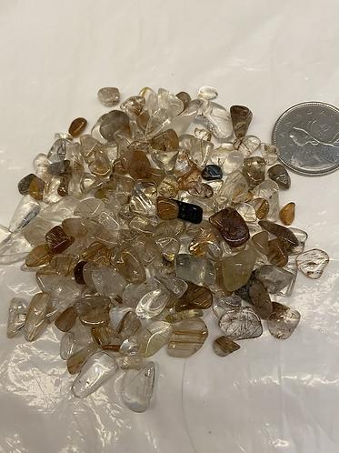 Rutilated Quartz, Copper, sm, 2oz
