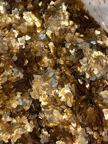 Gold (Sm) Natural Mica Flakes, 1/4oz