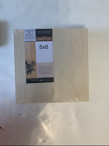"Birch Wood Panel 8"" x 8"" x 1 5/8""d"