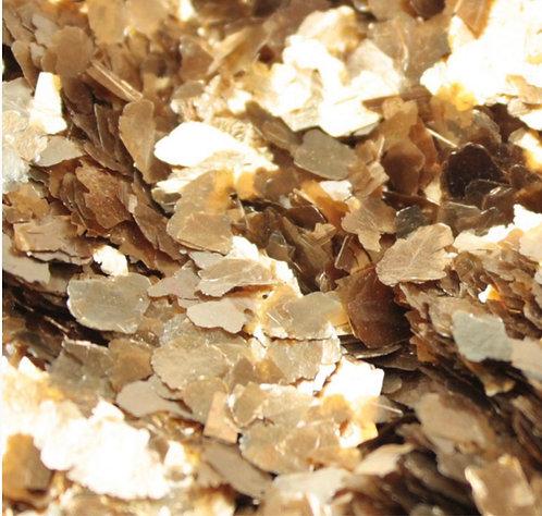 Gold (Lg) Natural Mica Flakes, 1/4oz