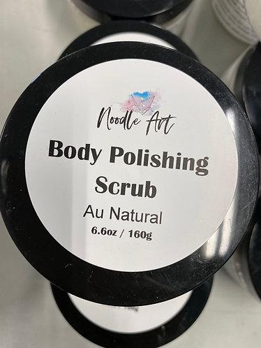 Body Polishing Scrub, Au Naturel, Noodle Art, 6.6oz/160g