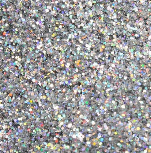 Silver Holographic Glitter Iridescent Ice Flakes, 1oz