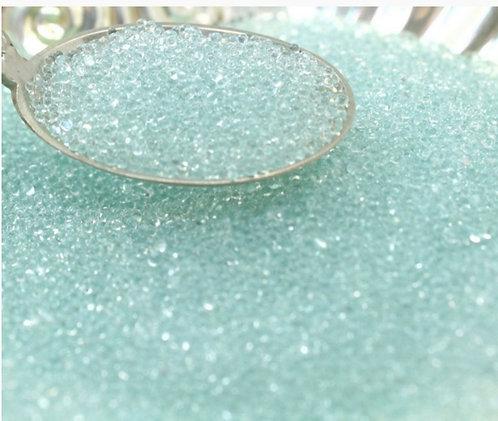 Clear 1mm Glass Beads, (no-hole bead), 1oz jar