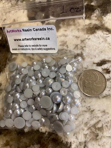 Acrylic Gems, Grey, small bag
