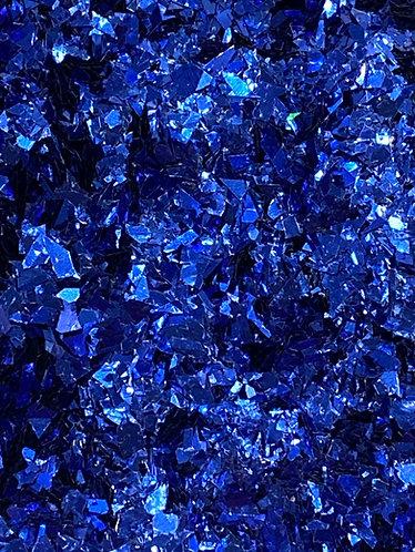 Blue (Dark) Iridescent Ice Flakes, 2oz
