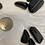 Thumbnail: Tourmaline Black, Tumbled, Lg, 3 stones/bag
