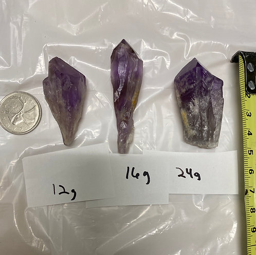 Amethyst Points, Raw (3/pack)