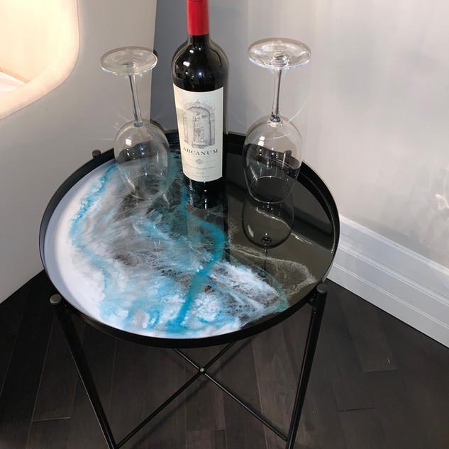 Resin Tray Table, Black