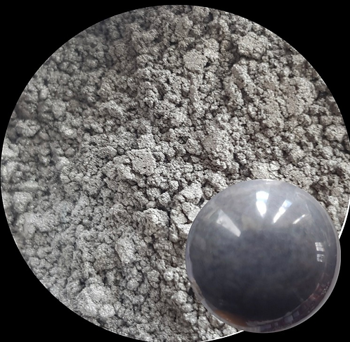 Silver Gray Pearlescent Powder 60ml Le'Rez