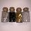 Thumbnail: Set White, Silver, Black, Gold, 40grit 4Pk