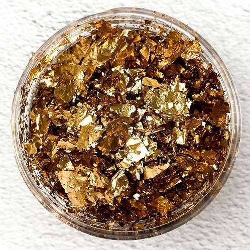Rose Gold Metallic Foil Flakes, Colour Passion