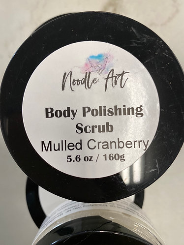 Body Polishing Scrub, Mulled Cranberry, Noodle Art, 6.6oz/160g