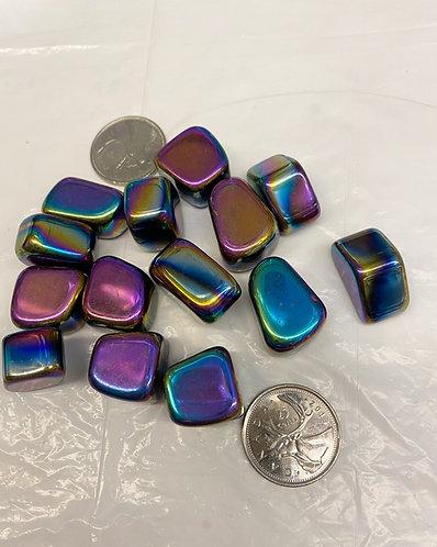 Rainbow Hematite, 1 tumbled stone