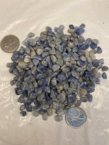 Blue Quartz, Tumbled, xsm 5oz bag