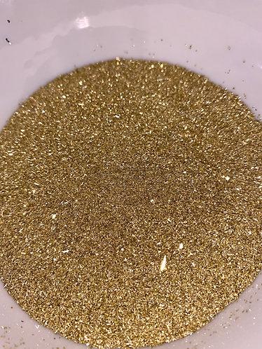 Bright Gold German Glass Glitter, 100 grit (very fine) 1oz