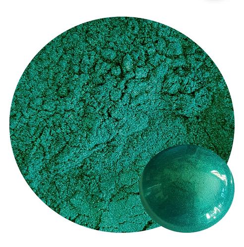 Peacock (Green) Mica Pigment Powder O/T 50ml Le Rez