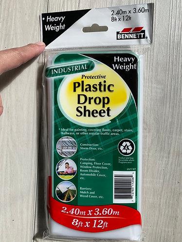 Plastic Drop Sheet, Heavy Weight
