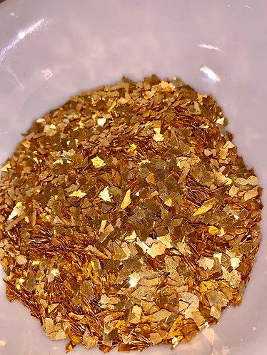 Gold Super Shard Glitter, 40 Grit, large, 1oz