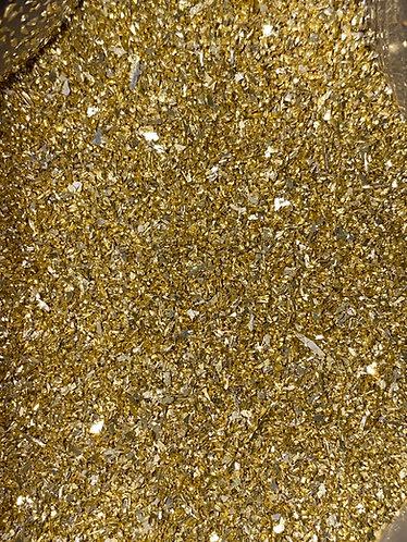 Gold German Glass Glitter, 80 grit (medium), 1oz