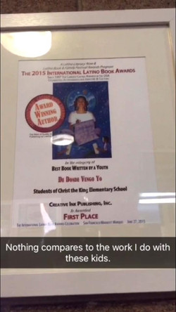 First Place Award for Best Book
