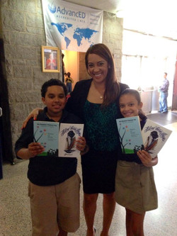 Nancy Ruffin with 2 students